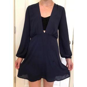 Mendocino Gilbert Mini Dark Blue Dress 👗